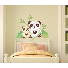 stickers panda chambre bébé stickers panda sticker famille pandas adhésifs muraux animaux