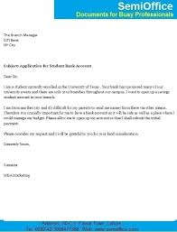 letter for student bank account opening