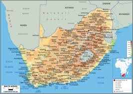 a picture of south africa map large physical map of south africa