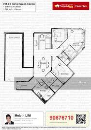 green floor plans simei green condominium 1 simei 4 3 bedrooms 1713 sqft