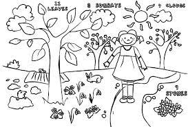kids drawing springtime coloring download u0026 print