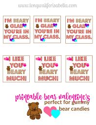 bear valentines cards