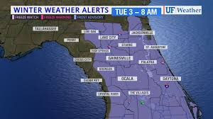 Weather Map Of Florida by Frost Advisory For All Of Inland North Florida Tuesday Morning
