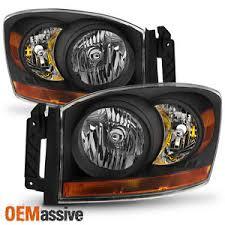 2006 dodge ram 2500 headlight bulb 2006 2007 2008 dodge ram 1500 2500 3500 black headlights ls