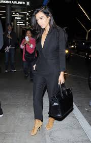 our 5 favorite style tips for curvy girls black jumpsuit kim