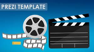 prezi template for a movie cinema related presentation clapper