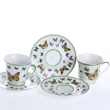 vintage tea set butterfly vintage tea cup and saucer set decorative containers