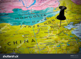 Beijing China Map by Small Pin Pointing On Beijing China Stock Photo 18377278