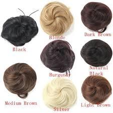 light brown hair piece pony tail clip on hair bun hair piece