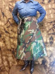 Plus Size Camouflage Clothing Camouflage Wrap Skirt High Waist Wrap Skirts Midi Small To