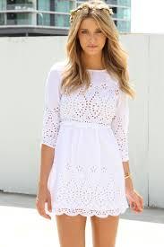 white summer dress white dress style gossip style