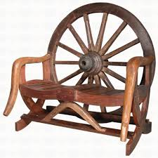 groovystuff tf 0048 arapaho wagon wheel bench santa fe ranch