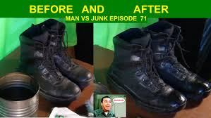 cleaning and polishing boots the military way man vs junk ep