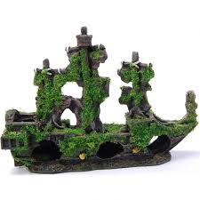 pirate ship aquarium tank ornament allpondsolutions