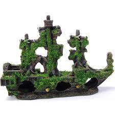 pirate ship aquarium tank ornament allpondsolutions