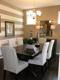 accent wall small with area rug dining room traditional and chrome