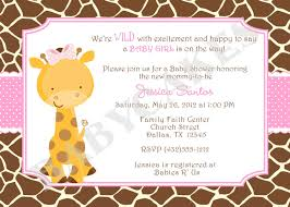 Babyshower Invitation Card Baby Shower Invitations Giraffe Theme Theruntime Com