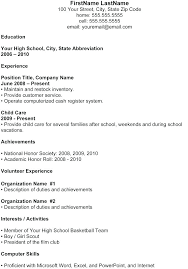 resume template for high school student high school student resume template