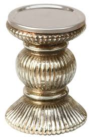 Accessorize Your End Table With Silver Vases And Votives by 1 Jpg