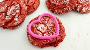 heart shaped cookies velvet heart crinkle cookies simplistically living