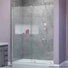 Mirage Shower Doors Bath Authority Dreamline Mirage X 44 60 In W X 72 In H Sliding