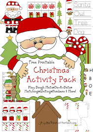 free christmas printable pack u0026 learning printables kids