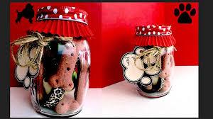 how to make mason jar dog gift puppy birthday present diy dog