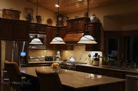 Lighting Above Kitchen Cabinets by Cherry Wood Harvest Gold Lasalle Door Decorating Ideas For Above