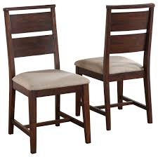 Dining Chair Portland Solid Wood Dining Chairs Set Of 2 Transitional