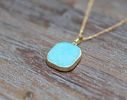 small turquoise pendant necklace images Turquoise pendant etsy jpg