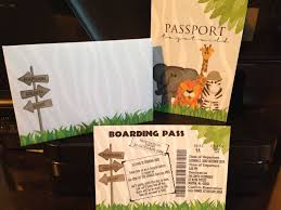 jungle baby shower invite jungle safari passport boarding pass invitation set birthday