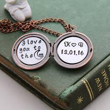 personalized photo locket necklace i to the moon locket personalized locket locket necklace