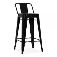 tolix bar stools for sale tolix style metal bar stool with low back rest black 65cm cult uk