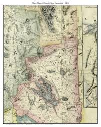 State Maps For Sale by Maps Of New Hampshire Counties From The 1816 Carrigain State Map