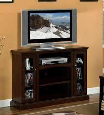 tv stand glass doors 48 inch espresso 2 glass doors entertainment tall tv stands wd