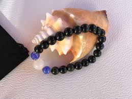 rose quartz beads bracelet images Bracelet natural obsidian beads rose quartz beads dodgerblue jpg