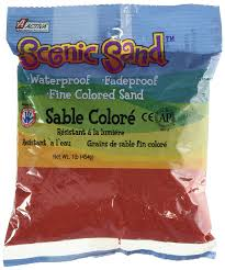 colored sand amazon com activa scenic sand 1 pound bright red arts crafts