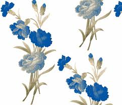 blue carnations blue shaded vintage carnations fabric vintage visage spoonflower