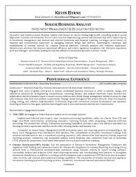 resume business analyst sample entry level business analyst