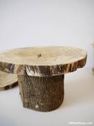 Wood Pedestal Stand Diy Rustic Log Tree Stump Pedestal Cake Stand Party Ideas