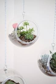 modern hanging planters hanging planter made with plastic fishbowls u2013 a beautiful mess
