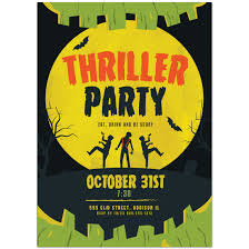 thriller halloween party invitations paper blast