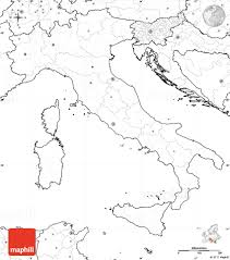 Italy Cities Map by Blank Simple Map Of Italy No Labels
