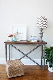 X Base Console Table Ana White Industrial Farmhouse X Based Console Featuring Bower