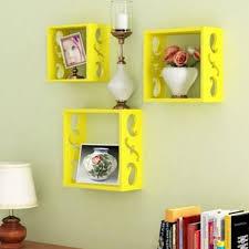 onlineshoppee square nesting wooden wall shelf home decor