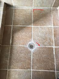 water how do i fix squishy tiles in shower floor home