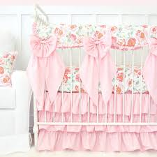 Pink Floral Crib Bedding Felicity S Pink Vintage Floral Bumperless Crib Bedding Caden