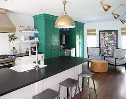 cabinet green and white kitchen best colors to paint a kitchen