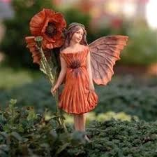 the poplar flower on base faery figurines
