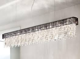 Chrome Ceiling Lights Uk Kolarz Prisma Chrome 10 Light Linear Ceiling Light Pendant With